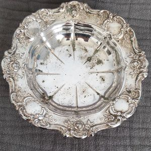 Towle Old Master Embossed Silverplate Bon Bon Bowl